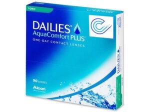 Dailies Aquacomfort Plus Toric - Caja de 90 lentillas