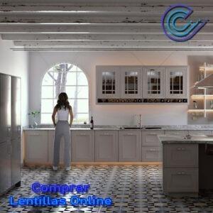 La iluminación correcta en la cocina nos permitirá cocinar con seguiridad